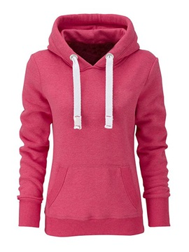 Classy Solid Color Long Sleeve Casual Hoodie