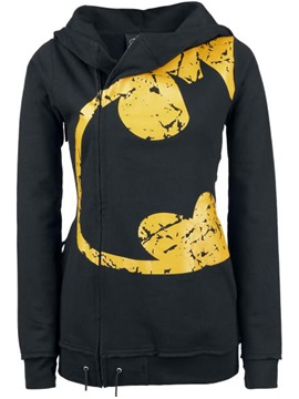 Cool  Pattern Zipper  Slim  Hoodie