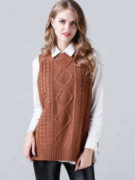 Cable Loose Knitted Vest