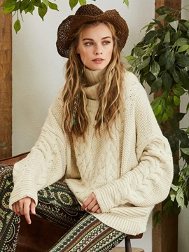 Bohoartist Turtle Neck Loose Knitwear