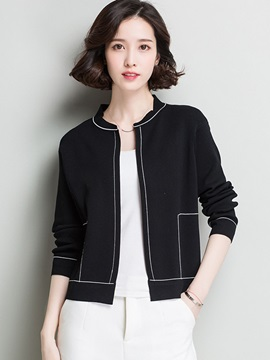 Slim Color Block Thin Cardigan