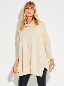 Stylish Turtle Neck Loose Knitwear