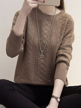 Long Sleeve Round Neck Loose Knitwear
