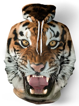 Long Sleeve Pullover Polyester Animal Hoodie