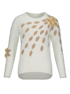 Loose Beading Decorative Vacation Women's Sweater