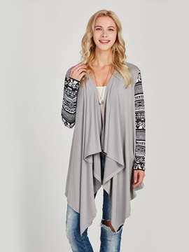 Ethnic Long Sleeve Slim Women's Wrap Cardigan