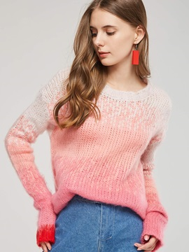 sweet Loose Fit Pullover Candy Color Women's Sweater
