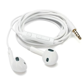 White In-Ear Stereo Wired Earphones