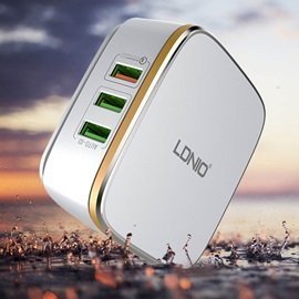 LDNIO A6704 Travel Charger USB Ports Power Charge