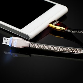 Earldom LED Intelligent light Control Data Sync Noodles Braided Micro USB Cable