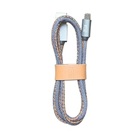 Fashion Denim 1M Cable for IPhone &Android Cell Phones