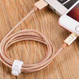 HOCO Nylon Braided USB Cable Magnetic Adapter for iPhone/iPad