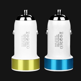 Suolmate Car Charger 2.1A USB Smart Port Car Charger for iPhone 7 7 Plus Samsung S8 S8 Plus iPad Android Phone Tablet PC