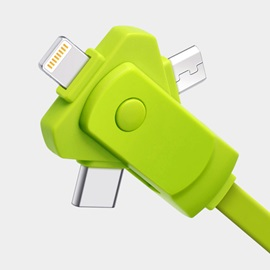 USB Type C / Lightning / Micro 3 in 1 Charging Cable Multiple Universal Charging Cable for iPhone iPad and Android Cellphone