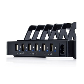 50W 6-Port USB Charging Station with Surge Protection