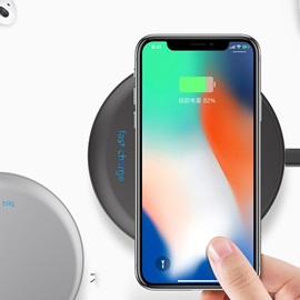 UFO Portable Wireless Charger Qi Charging Pad for iPhoneX/8/Other Qi-enabled Devices