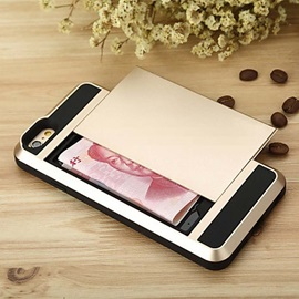 Luxury Slim Hybrid Credit Card Pocket Wallet Pouch Phone case for iPhone 6/6S Plus