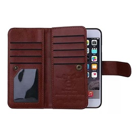 Magnetic 2 in 1 Wallet Leather Card Holder Cash Slot Photo Frame Case for iPhone 5/5S/SE