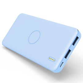 Candy Color Ultra-Thin 5000mAh Dual USB Ports Portable Power Bank