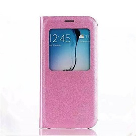 Original Flip PU Leather Case View Window For Galaxy Core Prime/Grand Prime/J1 Ace/J1/J2/J3/J5/J7/E5/E7/On5/On7