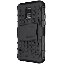 For Samsung Galaxy S7/S7 Edge/S6 Edge/S6 Tire Style Hybrid TPU PC Hard Bracket Protective Kick Stand Case