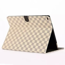 Tartan Wallet Case Casual Style PU Tablet Protect Shell With Stand Holder for IPad Pro