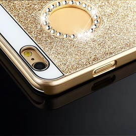 Luxury Bling Glitter Back Cover Case with Diamond for iPhone 6S 6 Plus
