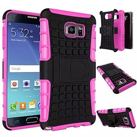 Dual-color Detachable PC+TPU Hybrid Case with Kickstand for Samsung Galaxy Note 3/Note 4/Note 5/Note 5 Edge