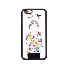Girl Pattern Silicone Soft Case for Iphone7/7plus/6/6s/6P/6s plus/5/5s