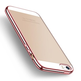 Silicone Plating Transparent Crashproof Fashion Phone Case for iPhone 5/5s/SE