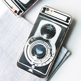 Case for iPhone 6/6s iPhone 6 Plus/6s Plus Vintage Camera Pattern Silicone Relief Case