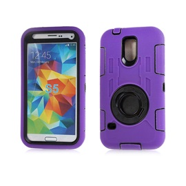 Hard & Soft Rubber Hybrid Armor Case Cover for Samsung Galaxy S5 i9600