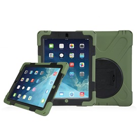 Hybrid Rugged Shockproof Cover with Rotatable Stand for iPad 2/3/4