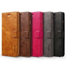 Hot Solid Color PU Stand Wallet Case for IPhone 7/7 Plus/6/6s/6 Plus