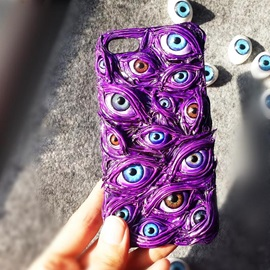 Protective Hard Case with Customized Eyeball Pattern