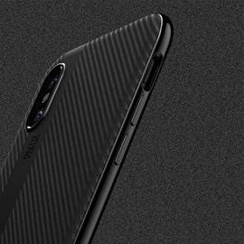 iPhone X Case Ultra Thin and Slim Anti-Scratch Case Coated Carbon Fiber Finish Surface for Apple 5.8