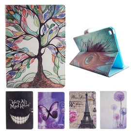 iPad Case PU Color Printing Folio Flip Wallet Magnetic Case Leather Protective Stand Cover for iPad 2/3/4 iPad Air1/2