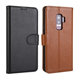 Samsung S9 Leather Phone Case S9 Plus New Cross-Business Protective Cover Leather Fine Lychee Leather Case