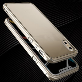 Aluminum Metal Bumper Case for iPhone X With Transparent PC Cover Shockproof Phone Armor Back Cover for Apple iPhone X