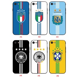 2018 World Cup club logo Phone Case for iPhone 5/6/7/8/plus/X