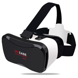 Black VR Glasses Support 4-5.5 Inches Cell Phone