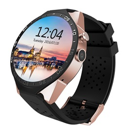 KW88 Smartwatch Android 5.1 Amoled Screen 3G Heart Rate Tracker MTK6580 Quad Core 512MB+4GB GPS Smartphone