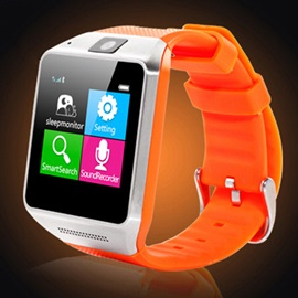 Square Stainless Steel Case Synthetic Leather Band 128MB ROM 0.3 MP Camera Pixels Android System Bluetooth Smart Watch