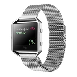 Fitbit Blaze Replacement Band,23mm Stainless Steel Smart Band