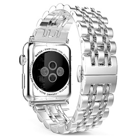 Personality Smart Watch Stainless Steel Band Butterfly Buckle Chain Style for Apple Watch Series 1/2 Iwatch