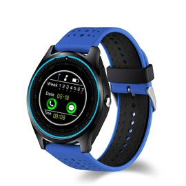 V9 Smart Watch Activity Monitor Support Whatsapp/Facebook with Camera/SIM Card Plot