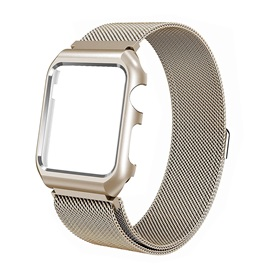 Apple Watch Band with Frame,Stainless Steel Magnetic Strap for iWatch Series 3/2/1