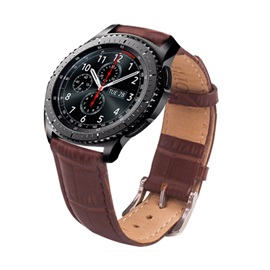 Samsung Gear S2/S3 Smart Watch Band,Genuine Leather Strap