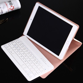 PU Waterproof Shockproof With Ultrathin Bluetooth Keyboard Tablets Case for ipad Air