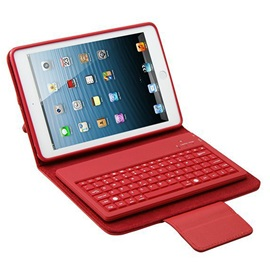 Solid Color Faux Leather Waterproof Shockproof With Bluetooth Keyboard Tablets Case for iPad Mini 1/2/3